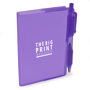 Notebook and pen purple