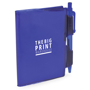 Notebook and pen blue