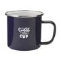 Enamelled mug black