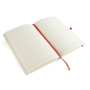 A5 white notebook red open 2