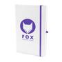 A5 white notebook purple