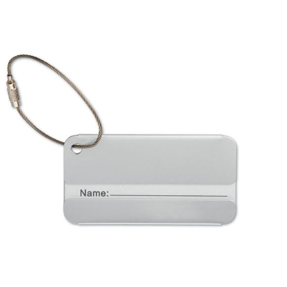Luggage tag - aluminium