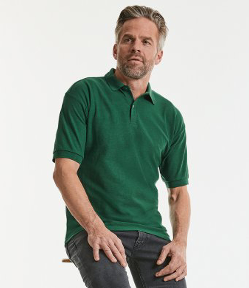 539m polo - worn green