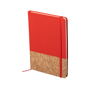 Cork pu notebook red
