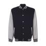 varsity jacket black grey