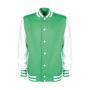 varsity jacket green white