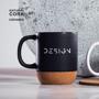 Ceramic cork mug printed
