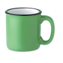 Vintage ceramic mug green