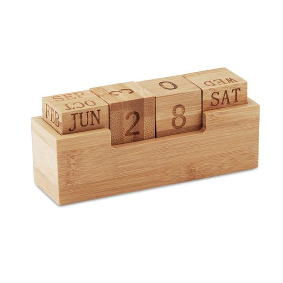 Picture of Bamboo desk calendar