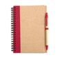 Eco notebook pen red