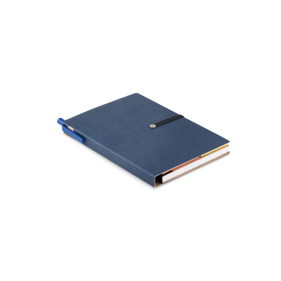 Recycled notebook pen blue