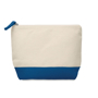 Cotton cosmetic pouch blue