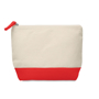 Cotton cosmetic pouch red