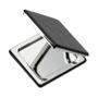 square compact mirror black