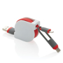 retractable multi cable red