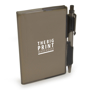 notebook and pen black