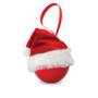 christmas bauble santa hat