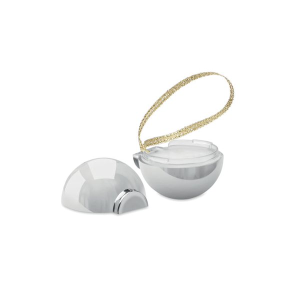 lip balm bauble silver