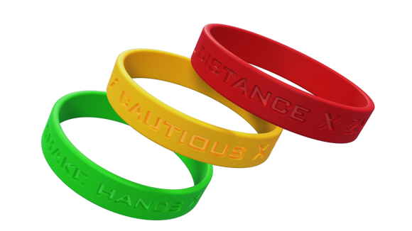 Trsffic light wristbands
