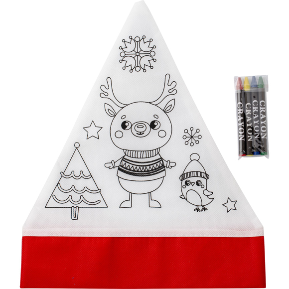 Christmas hat with pencils
