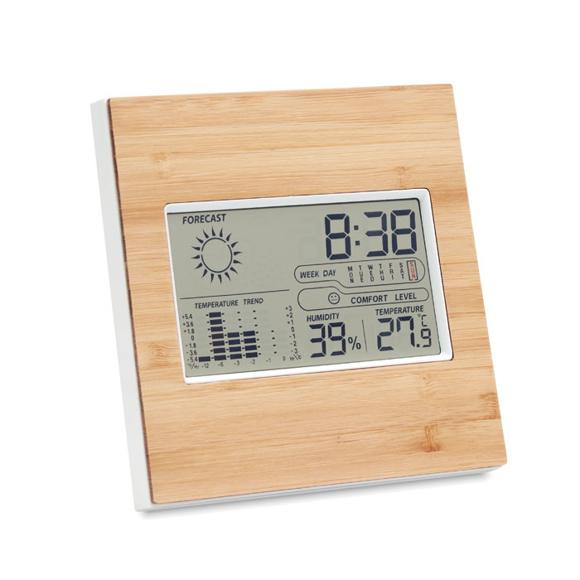 Picture of Bamboo clock and weather station