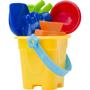 Platic beach bucket set yellow