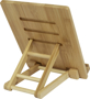 bamboo tablet holder back